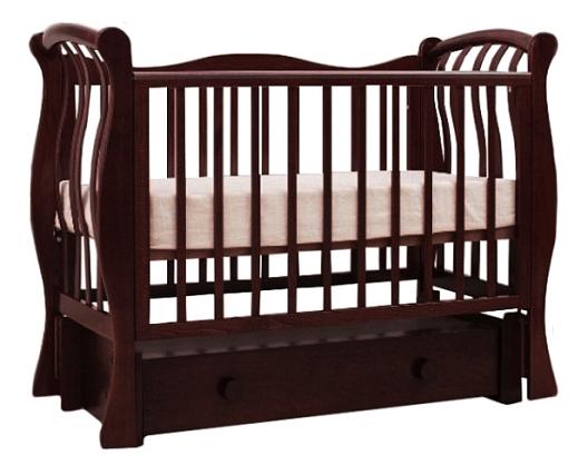 Купить Ландыш 07, 3 махагон, Кровать-маятник Лель Ландыш 07, Детские кровати