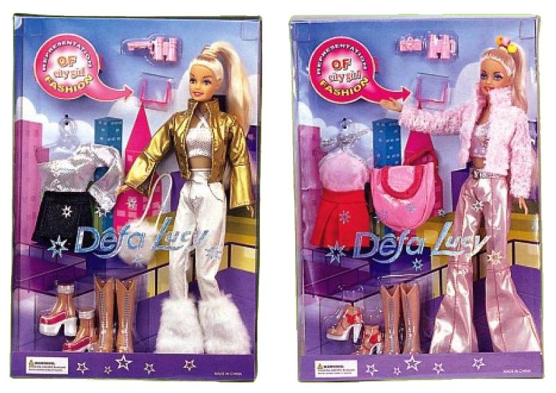 Купить Кукла Defa Модница в наборе с одеждой и аксессуарами 29 см 2 вида, Defa Lucy, Классические куклы