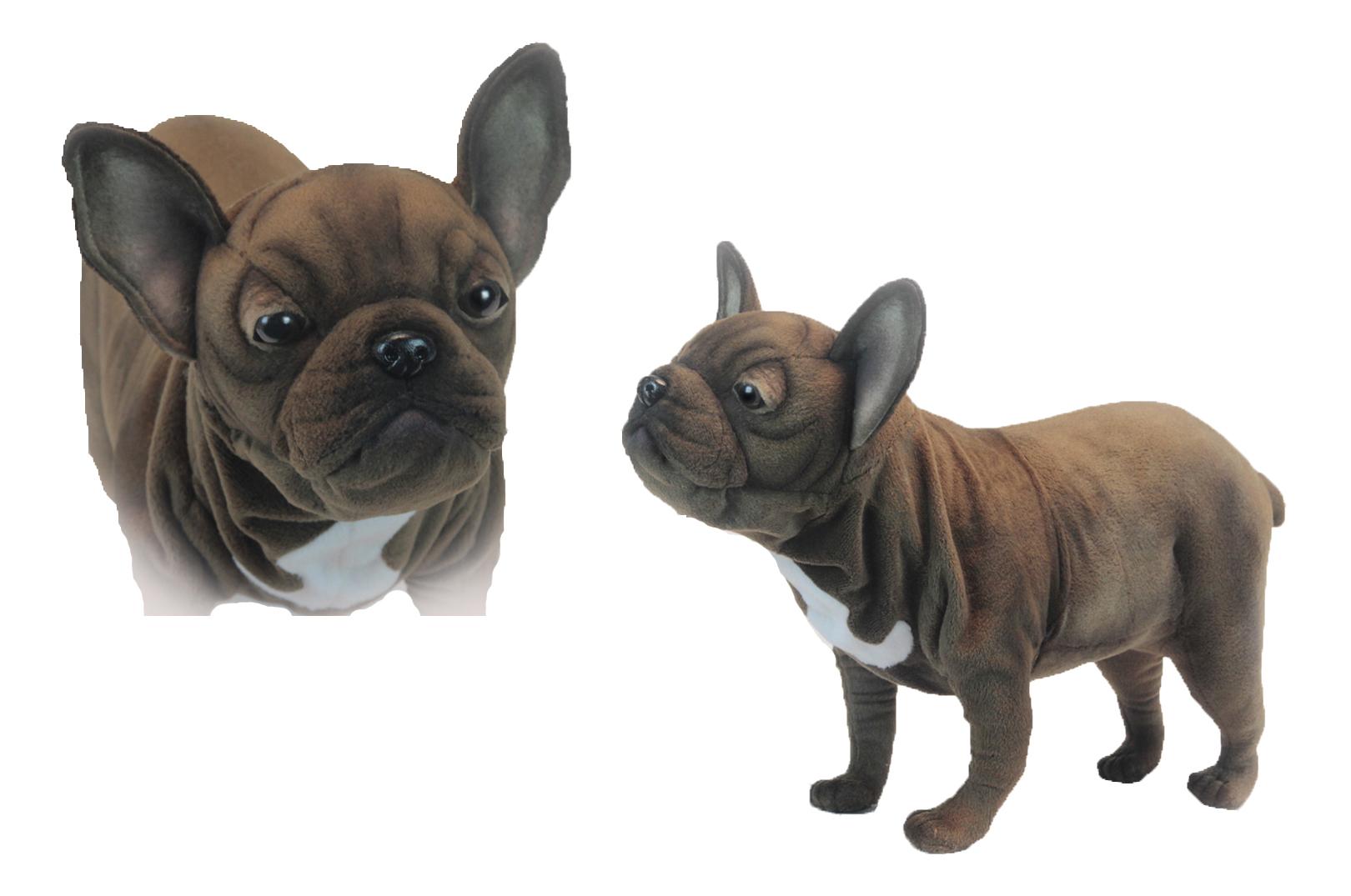 Купить Французский бульдог 50 см, Мягкая игрушка Hansa Французский Бульдог, Взрослый 50 см, Мягкие игрушки животные