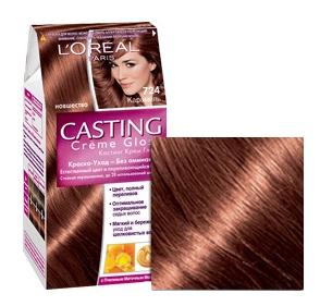 Краска для волос L`Oreal Paris Сasting Creme Gloss 724 карамель