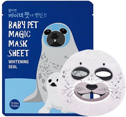 Тканевая маска-мордочка отбеливающая HOLIKA HOLIKA Baby Pet Magic Seal, 22 мл