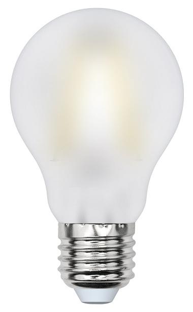 Лампа светодиодная (UL-00000304) E27 8W 3000K шар матовый LED-A60-8W/WW/E27/FR PLS02WH