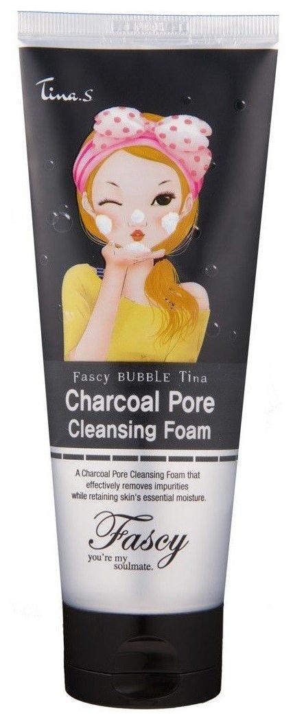 Пенка для умывания CJ Lion Fascy Bubble Tina Charcoal Pore Cleansing Foam 150 мл