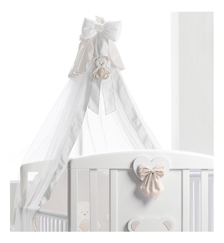 Балдахин для детской кроватки Baby Expert Peluche белый/крем
