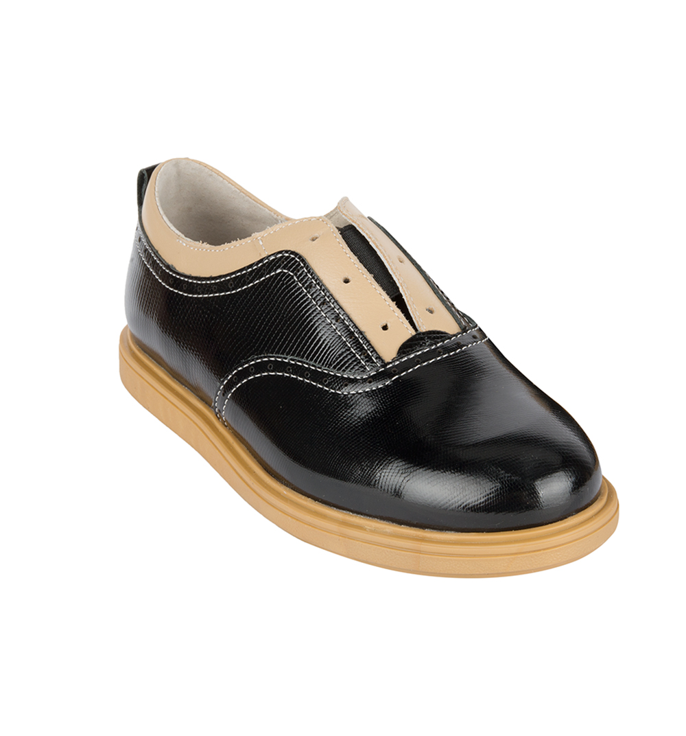 Купить Полуботинки детские 24007 р.32 кожа, твист черный, Tapiboo, Детские ботинки