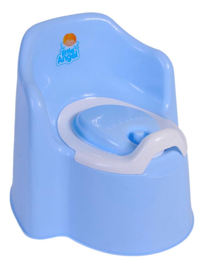 Купить Горшок детский Plastic Republic Little Angel Little king с крышкой голубой, Горшки детские