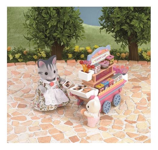 Купить Игровой набор Sylvanian Families Тележка со сладостями,