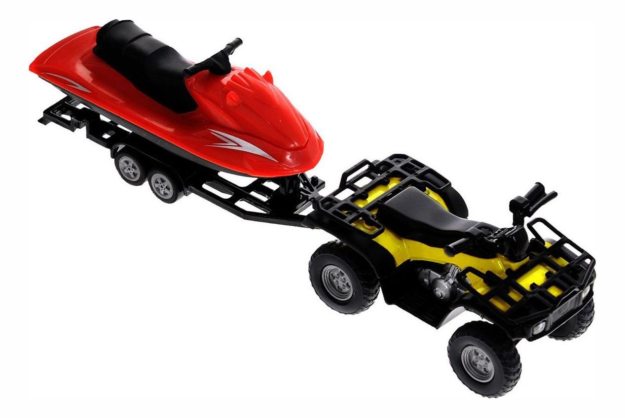 Купить Коллекционная модель Siku Квадроцикл с катером, Коллекционные модели