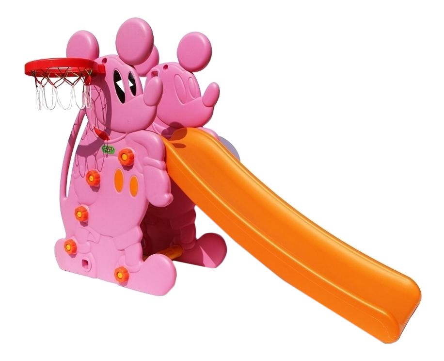 Купить Мышка розовая, Горка детская Мышка PS-027 розовый Leader, Детские горки