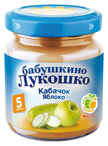 Пюре овощное Бабушкино Лукошко Кабачок яблоко
