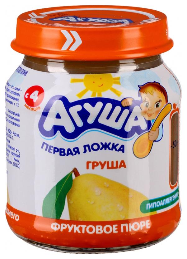 Купить Груша 115 г, Пюре фруктовое Агуша Груша с 4 мес 115 г, Детское пюре