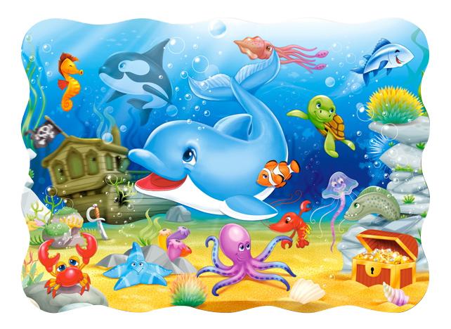 Купить Подводные друзья, Castorland Пазл Кастор 30 midi подводные друзья В-03501, 30 элементов, Пазлы