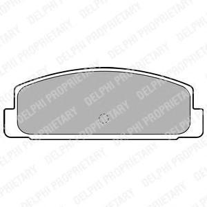 Тормозные колодки DELPHI LP1766 фото