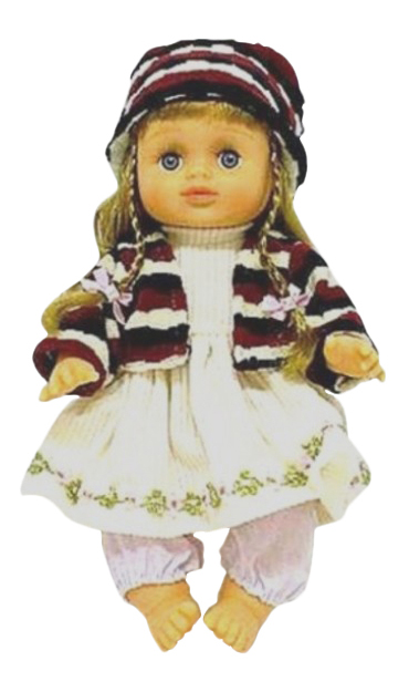 Купить Кукла с косичками в сумке звук 24 см Play Smart Д12917, PLAYSMART, Интерактивные куклы