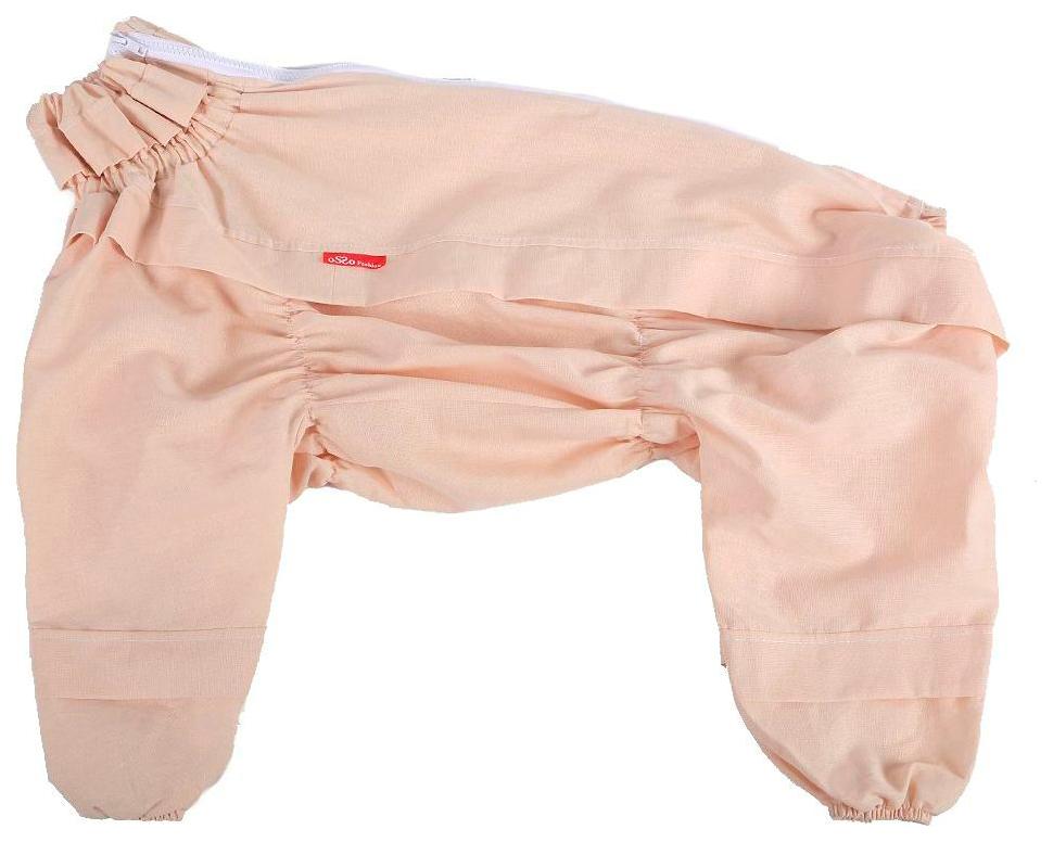 Комбинезон для собак OSSO Fashion размер S унисекс, бежевый, длина спины 28 см