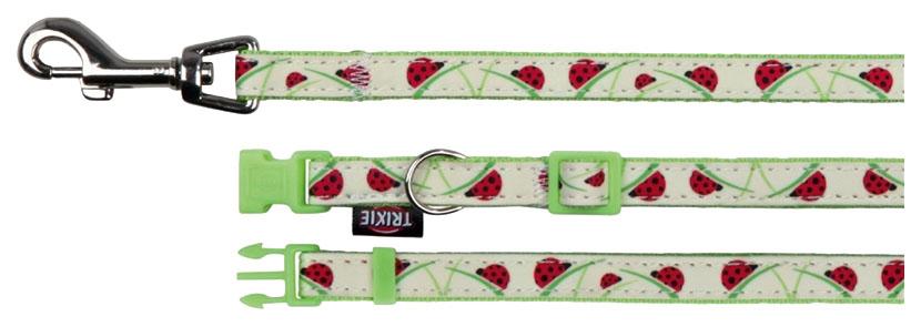 Ошейник для собак TRIXIE Collar XS-S с поводком зеленый 15372