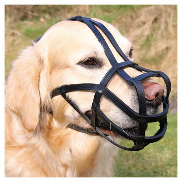 Намордник для собак Trixie Bridle Leather L, черный