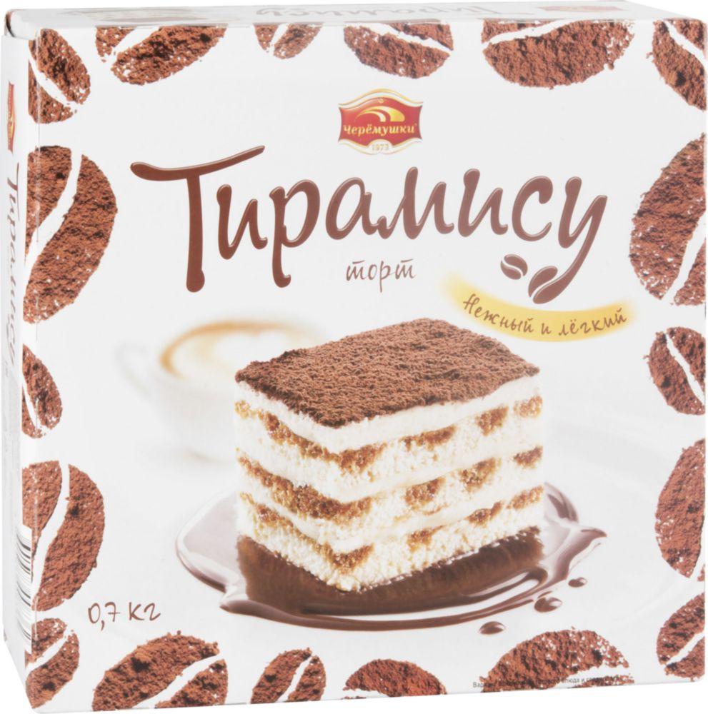 Торт тирамису Черемушки бисквитный 700 г фото