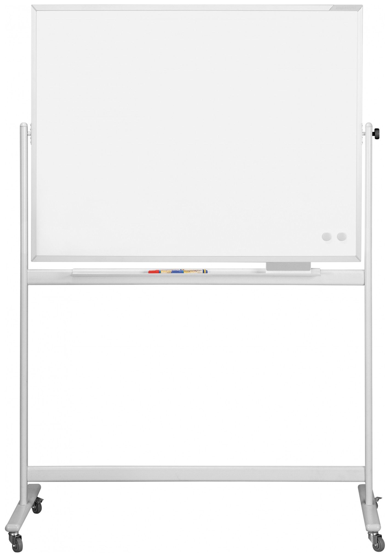 Доска мобильная Magnetoplan SP 1500х100 0мм Лаковая, белая, вращающаяся фото