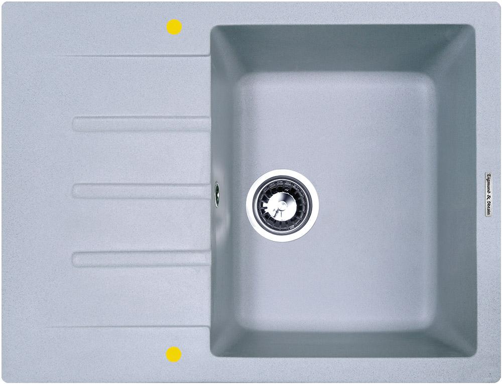 Мойка для кухни гранитная Zigmund #and# Shtain RECHTECK 645 млечный путь
