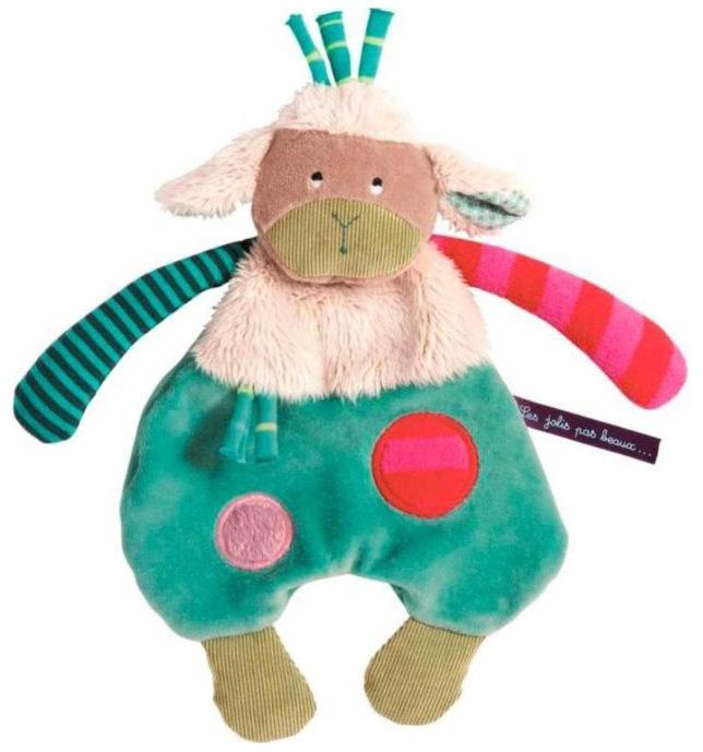 Купить Овечка комфортер 629016, Игрушка-комфортер Овечка Moulin Roty 629016, Комфортеры для новорожденных