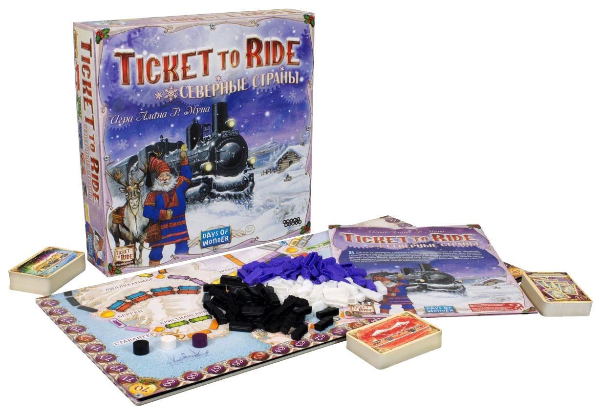 Семейная настольная игра Hobby World Ticket to Ride Северные страны 1702, Настольные ролевые игры  - купить со скидкой