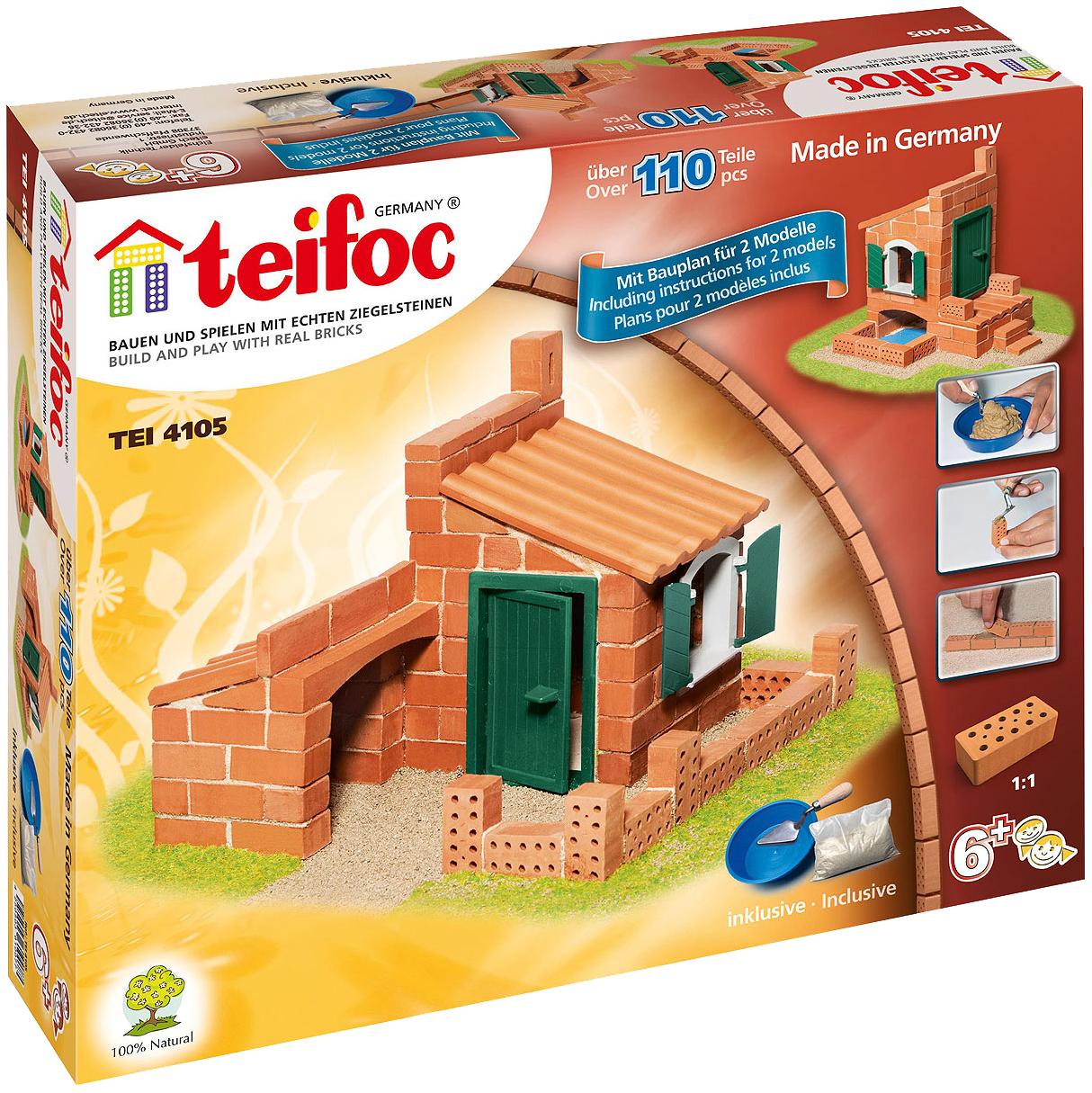 Купить Конструктор Teifoc Tei 4105 Дом 110 Деталей 2 Модели, Игровые наборы