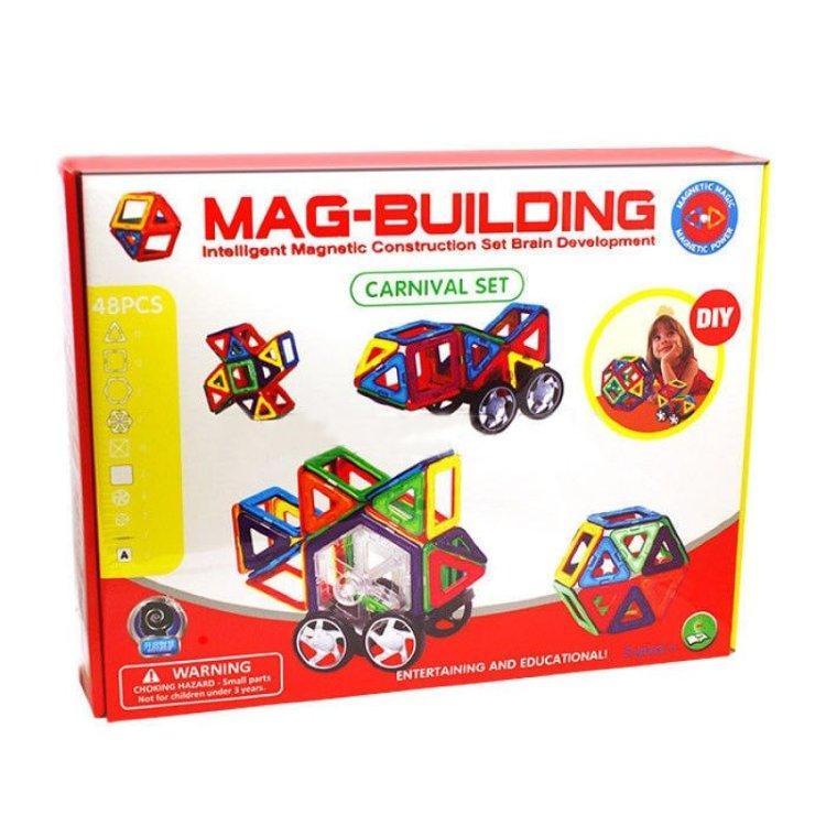 Магнитный конструктор Mag-Building 48 деталей и колеса