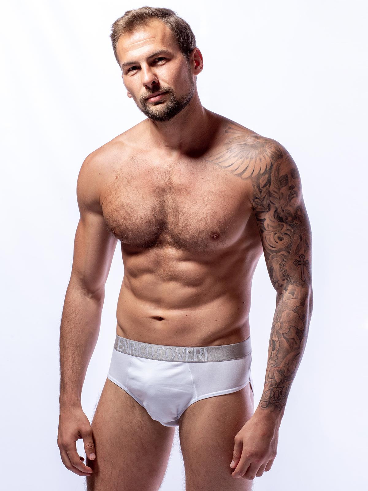 Трусы слип мужские Enrico Coveri белые XL