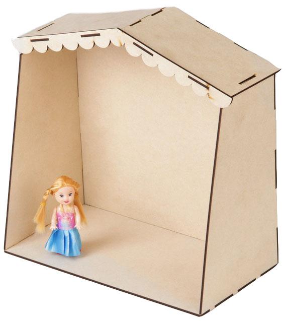Купить Сборная деревянная модель Кукольный домик, NoBrand, Деревянные конструкторы