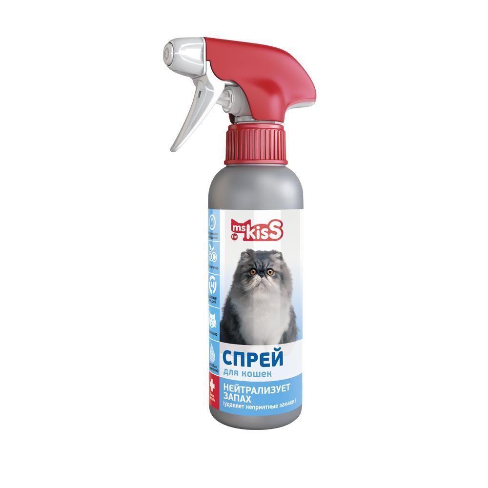 Спрей-нейтрализатор запаха для кошек Ms. Kiss Нейтрализует запах, 200 мл
