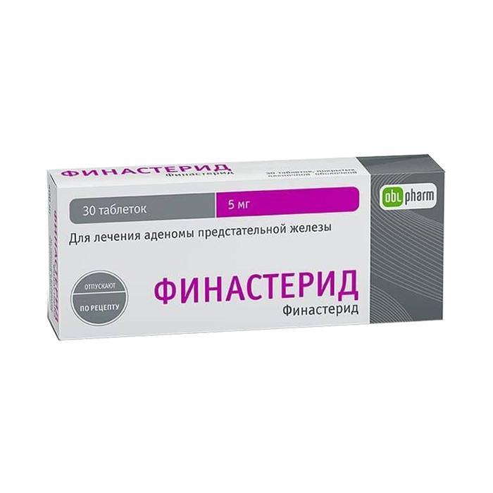 Финастерид таблетки 5 мг 30 шт.