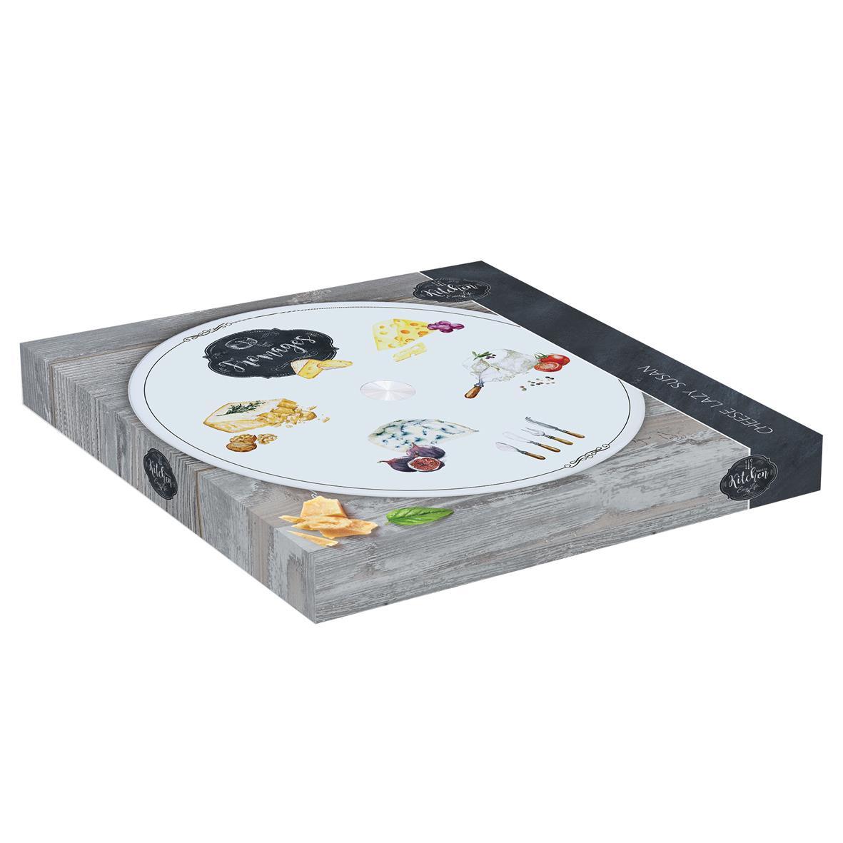 Сервировочная тарелка на подставке для сыра Easy Life KITCHEN BASIC FROMAGES, 32 см