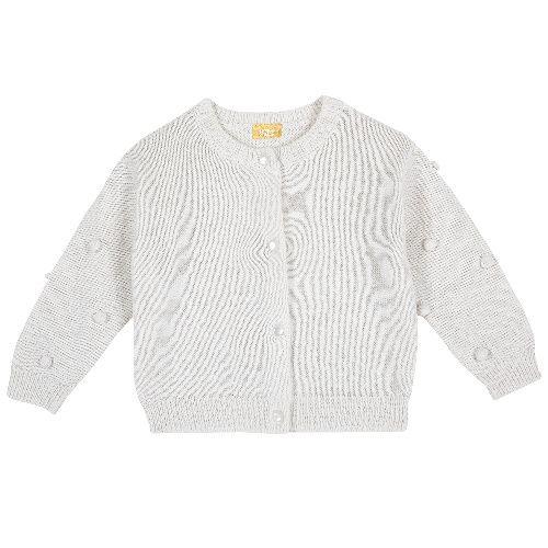 Купить 9096898, Кардиган Chicco для девочек р.74 цв.белый, Кофточки, футболки для новорожденных