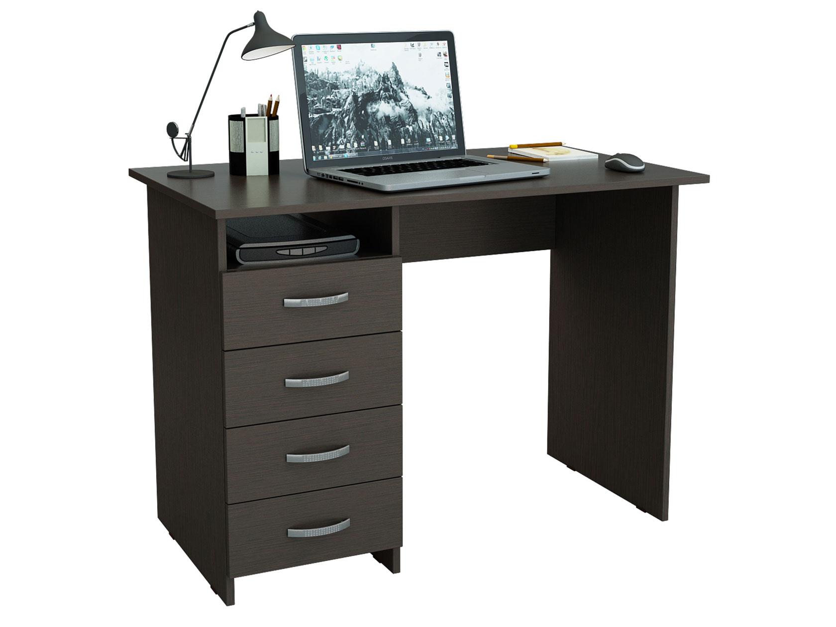 Компьютерный стол МФ Мастер Милан 110x60x75, венге фото