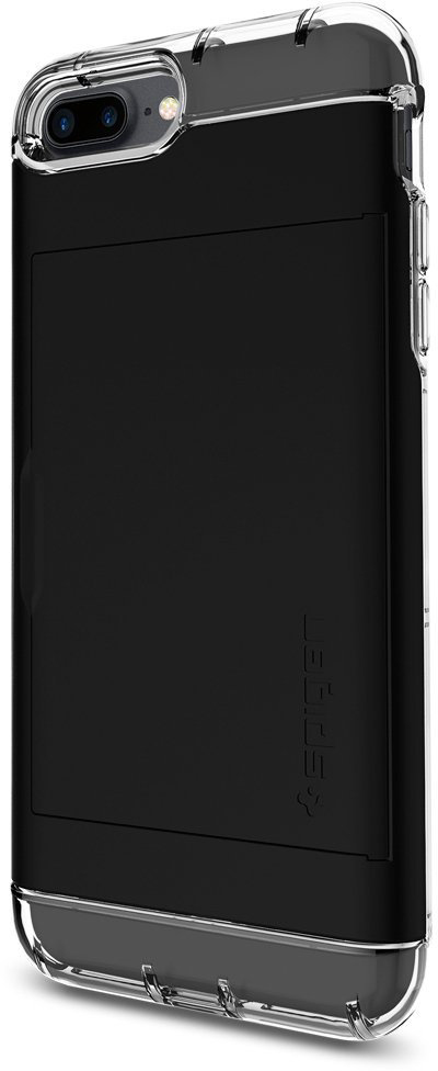 Чехол-визитница Spigen Crystal Wallet для Apple iPhone 7 Plus/8 Plus Black (043CS20986)