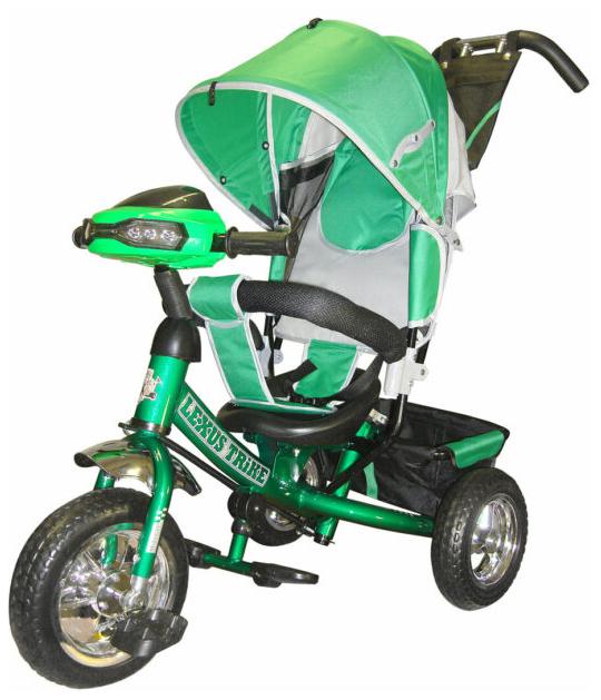 Купить Трехколесный велосипед Funny Jaguar Lexus Racer Trike 2017 с музыкальной панелью зеленый, Детские велосипеды-коляски