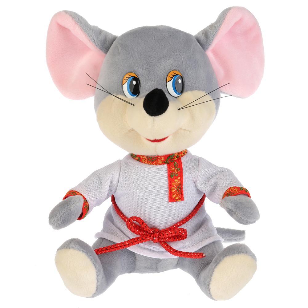 Купить Игрушка мягкая Мышь в белой рубахе , 18 см, Мульти-Пульти, Мягкие игрушки животные