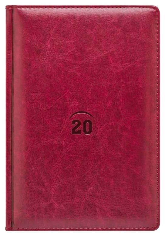 Ежедневник датированный на 2020 год Index «Nature» А5 168 листов Красный
