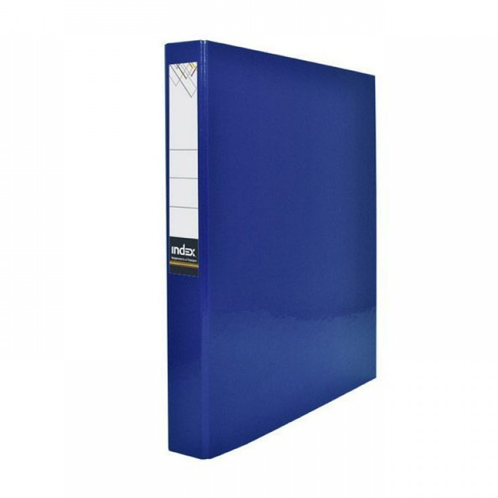 Папка-файл Index на 2 кольцах, лам., Синяя, диаметр 30мм