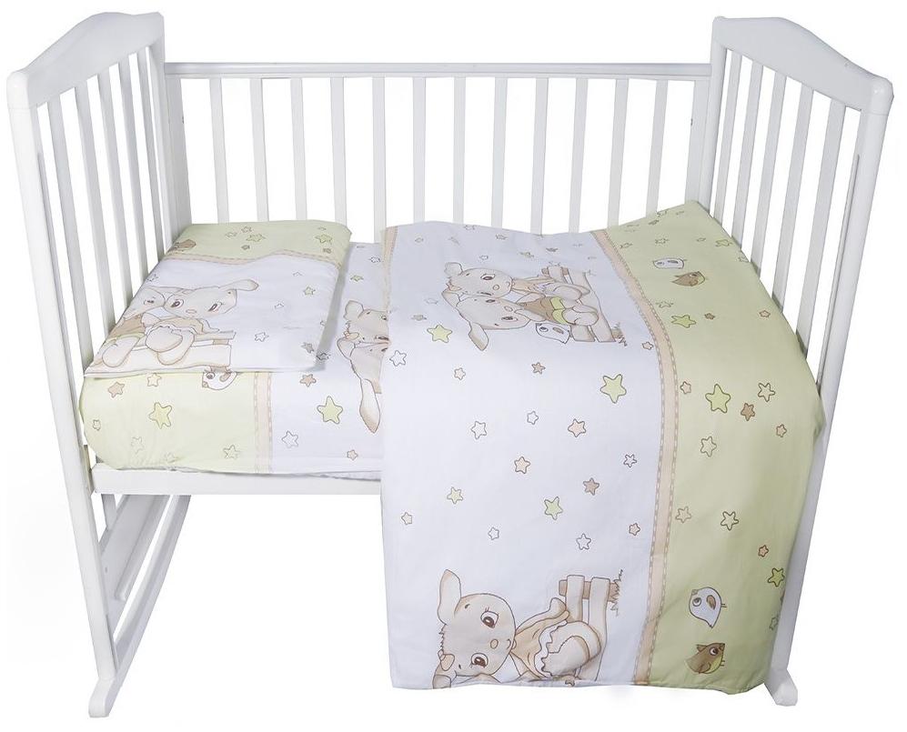 Комплект в кроватку Эдельвейс Друзья зеленый, 3 предмета фото