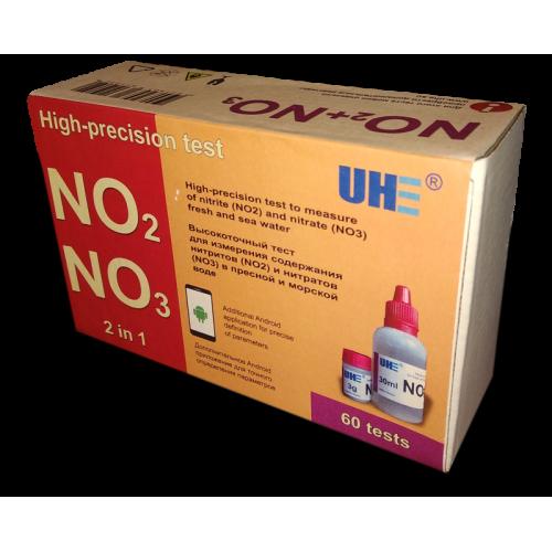 Тест на определение содержания нитратов и нитритов в любой воде UHE NO2 NO3 test фото