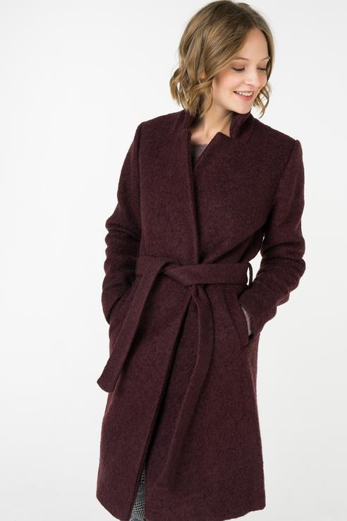 Пальто-халат женское ICHI 20106684 бордовое 40 EU