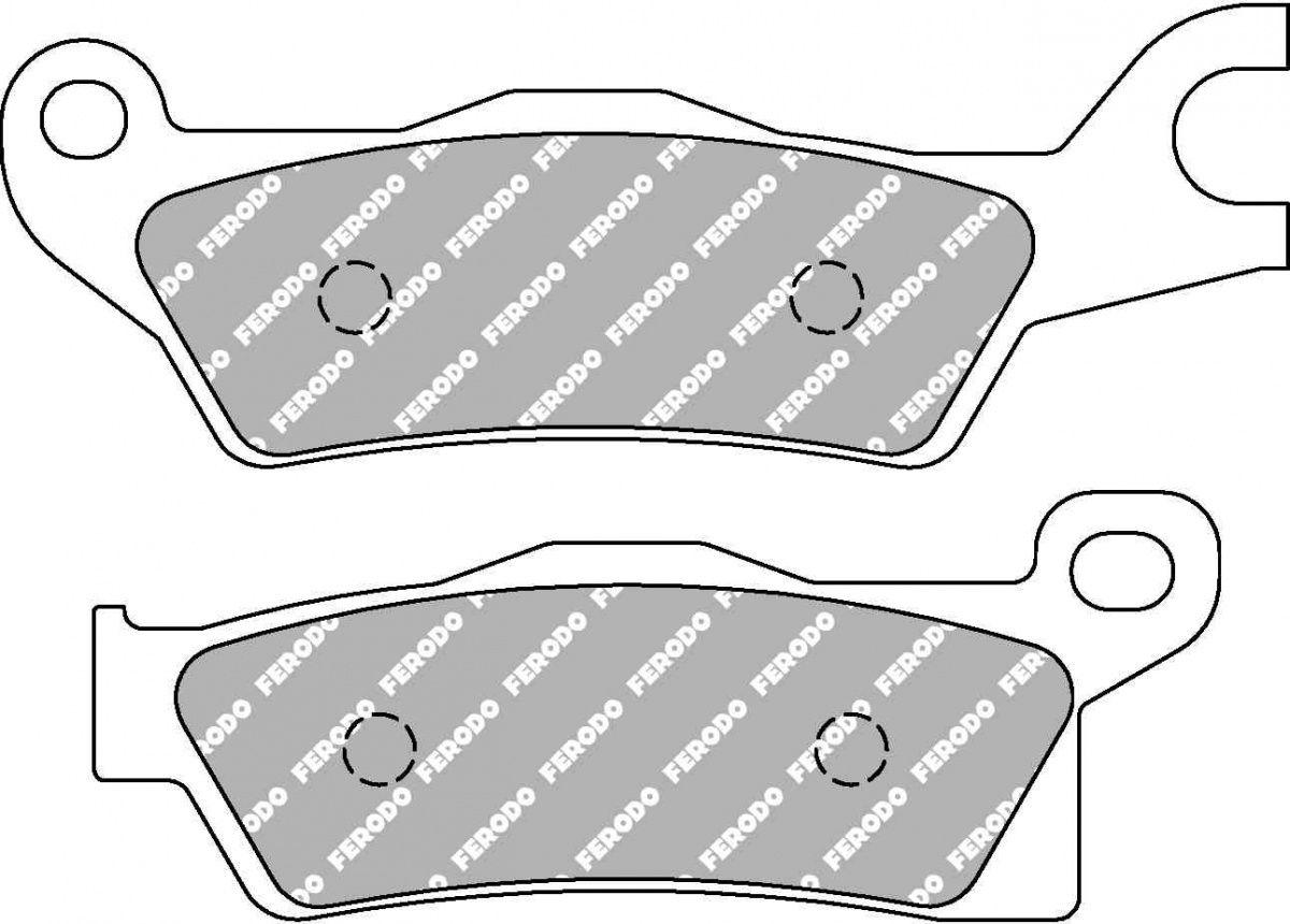 Тормозные колодки передние/задние Ferodo FDB2274SG для мотоциклов