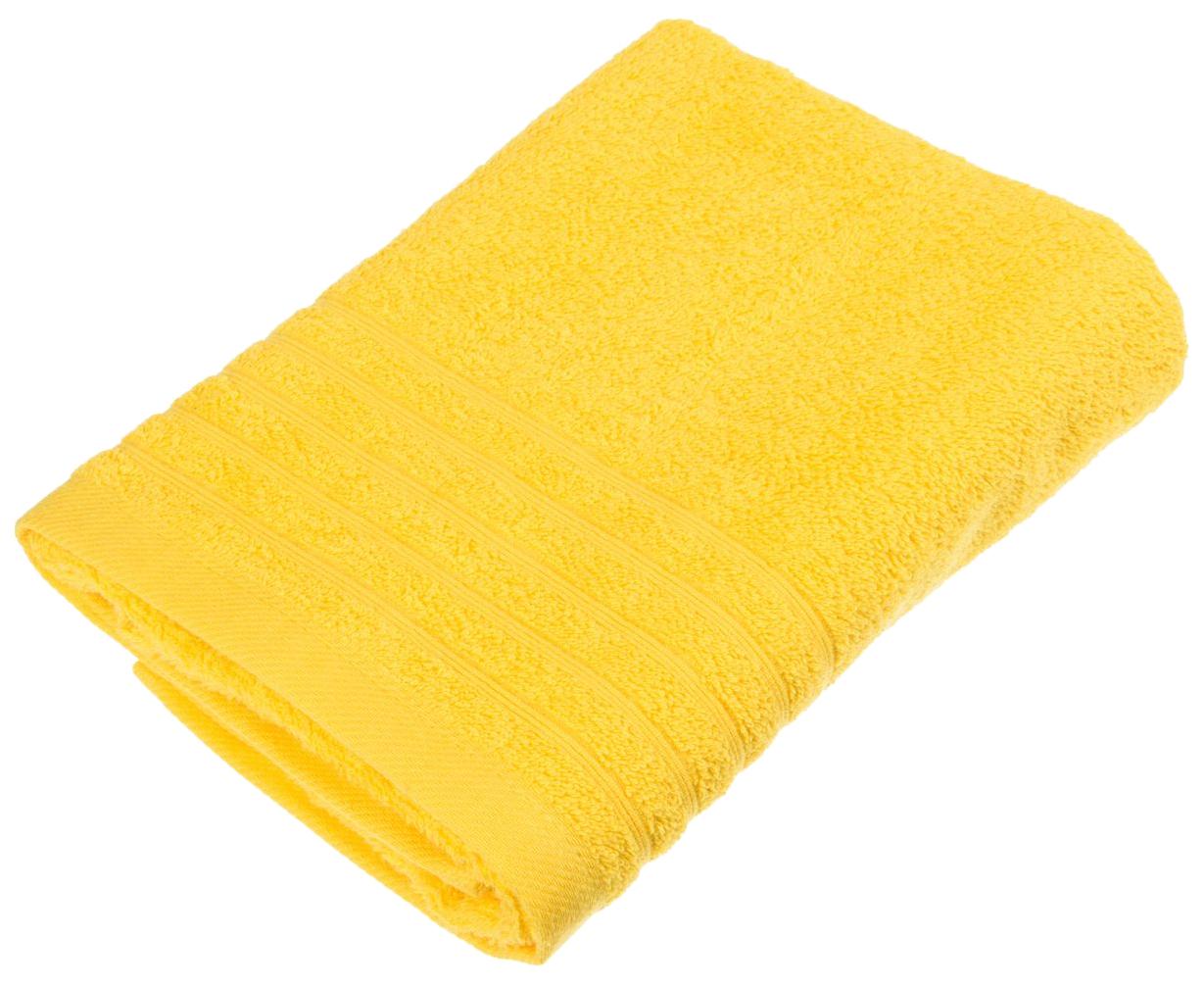 Банное полотенце, полотенце универсальное Santalino желтый