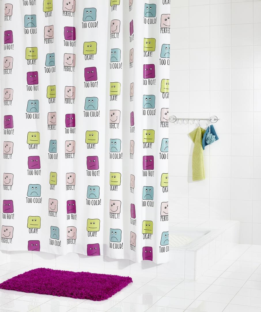 Штора для ванных комнат Enjoy цветной 180Х200