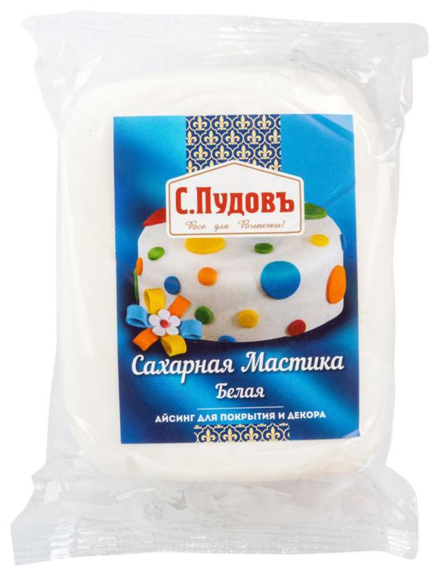 Сахарная мастика С.Пудовъ белая 500 г фото