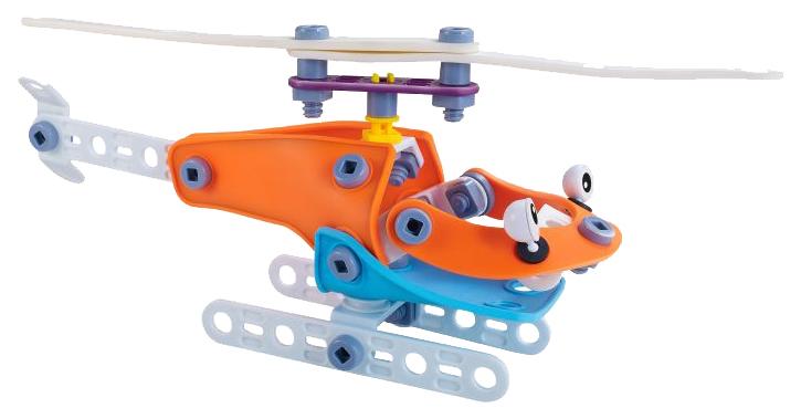 Купить Конструктор пластиковый Fun Red гибкий Вертолет Fun Red 67 деталей, Конструкторы пластмассовые