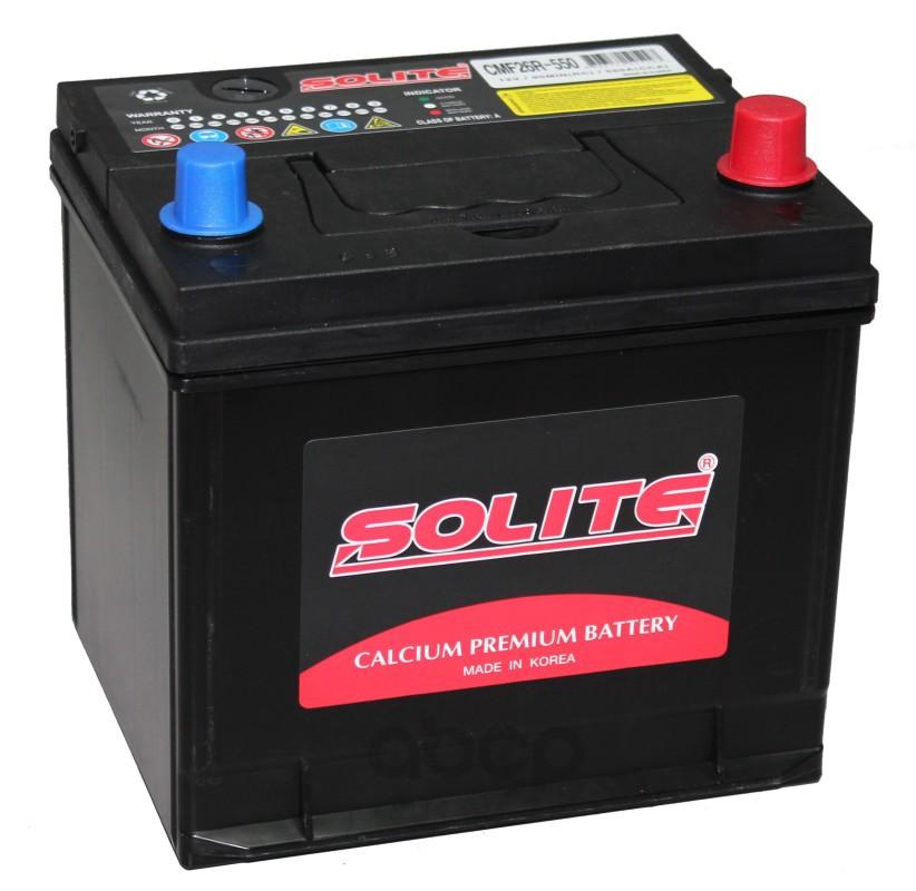 Аккумулятор автомобильный Solite CMF26R550 60А/ч 550А полярность обратная фото