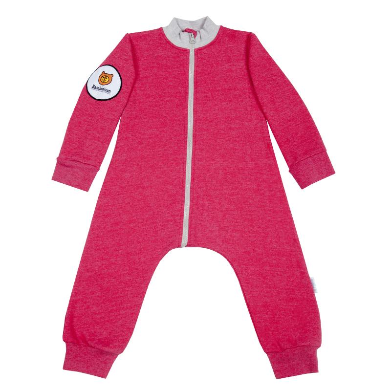 Купить Комбинезон Bambinizon из футера Розовый Меланж ТКМ-БК-КРАСМ р.62, Слипы и комбинезоны для новорожденных